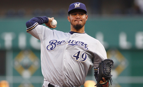 Yovani+Gallardo+Milwaukee+Brewers+v+Pittsburgh+HkBcksEi9ghl